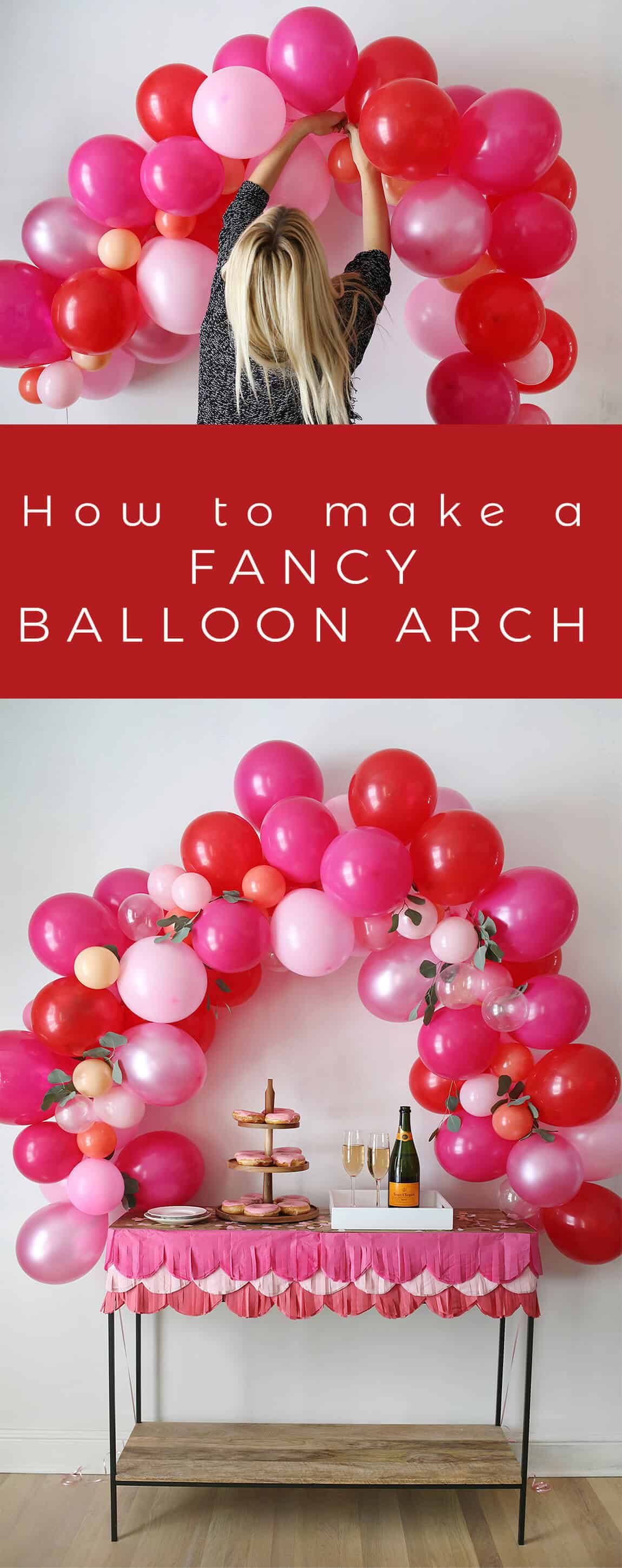 how to make an easy balloon arch without helium