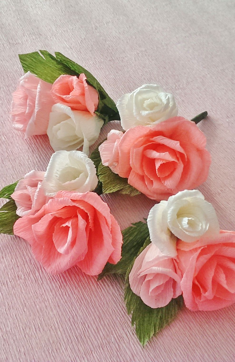 Mini Crepe Paper Flower Boutonnieres Mosaicparty Mosaic