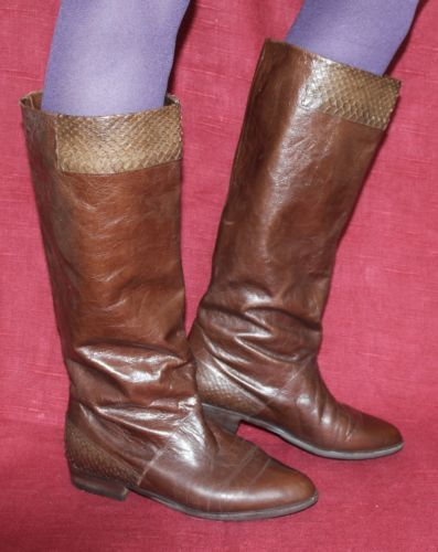 Peter Kaiser Echt Leder Vintage Boots Leather Boots 40 80er