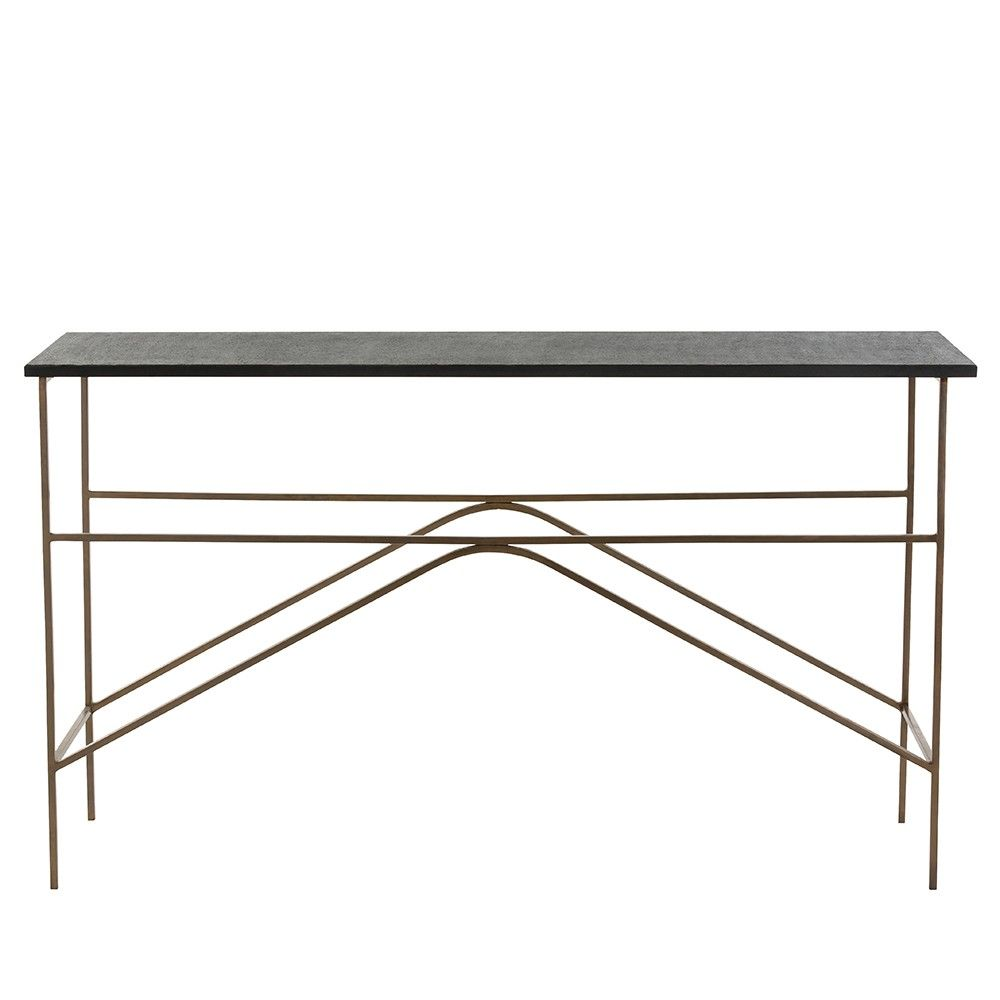 Adah Console Black and Brass Consoles Midcentury modern and Mid