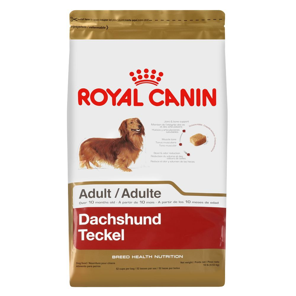 Royal Canin Breed Health Nutrition Dachshund Adult Dog Food Size