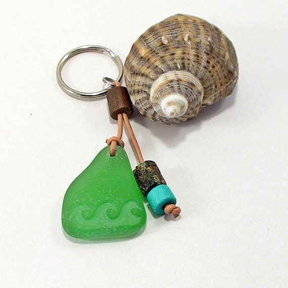 Sea Wave Keychain - Sea Glass Keychain Beach Lover Gift Beach ... bbb09c0bcfe8