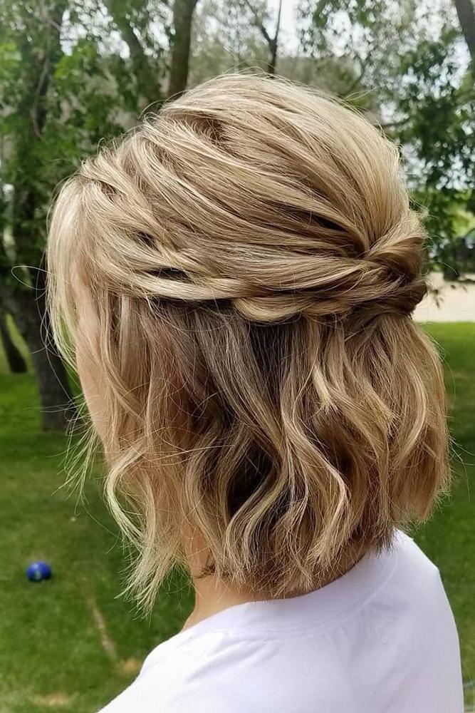 30 Hochzeit Haar halb nach oben Ideen ❤ Hochzeit Haar halb nach oben halb nach unten auf kurze gefegt ... - Emily blog