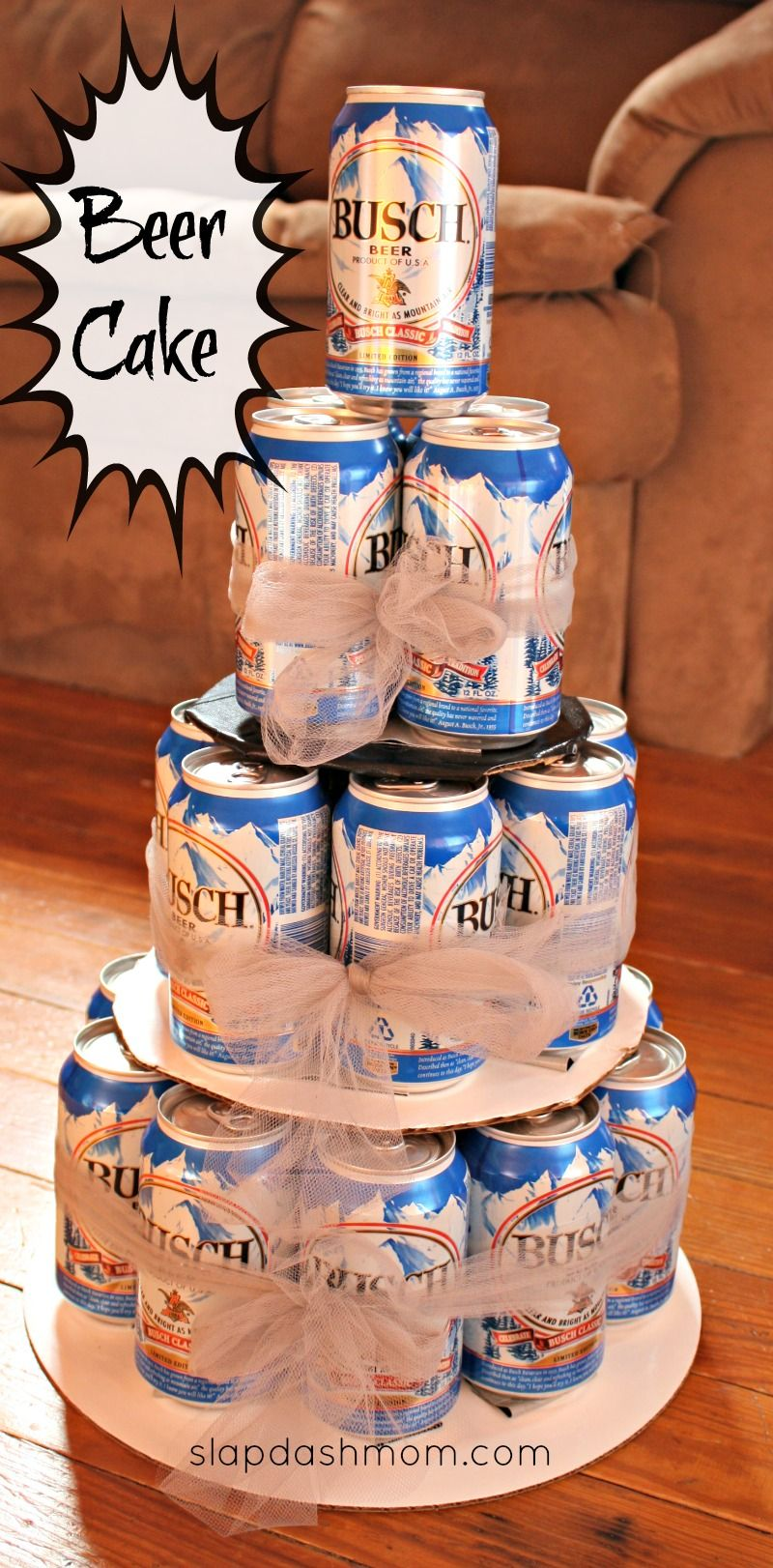Beer Cake Design Ideas : DIY Beer Tower Cake #hoosier Beer tower