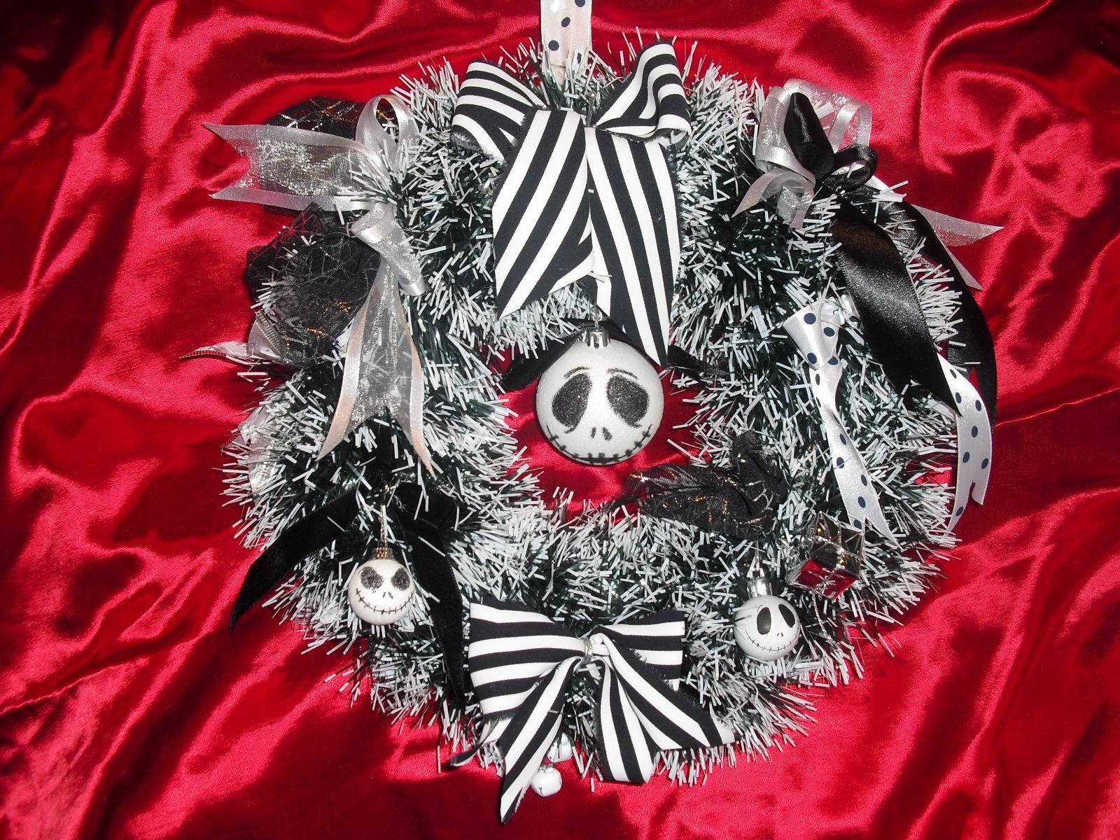 Jack Skellington wreath baubles Nightmare before