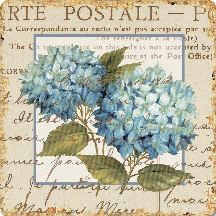 Blue hydrangea daphne brissonnet printable pinterest - Papel de transferencia para plancha ...