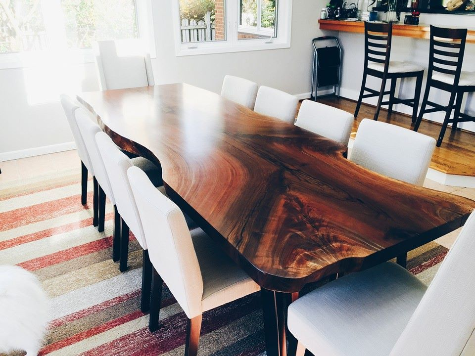 Elpis Wood Natural Live Edge Tables And Furniture Serving The Greater Seattle Region Live Edge Wood Dining Table Walnut Dining Table Dining Table