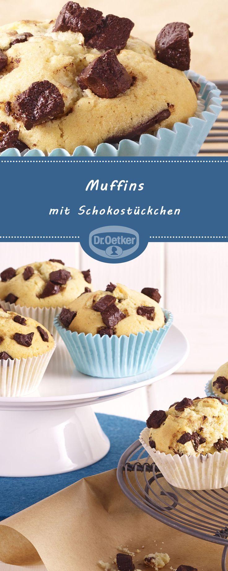 Muffins mit Schokostückchen Muffins mit Schokostückchen Trendige Pinterest  Torten Rezepte Lustig