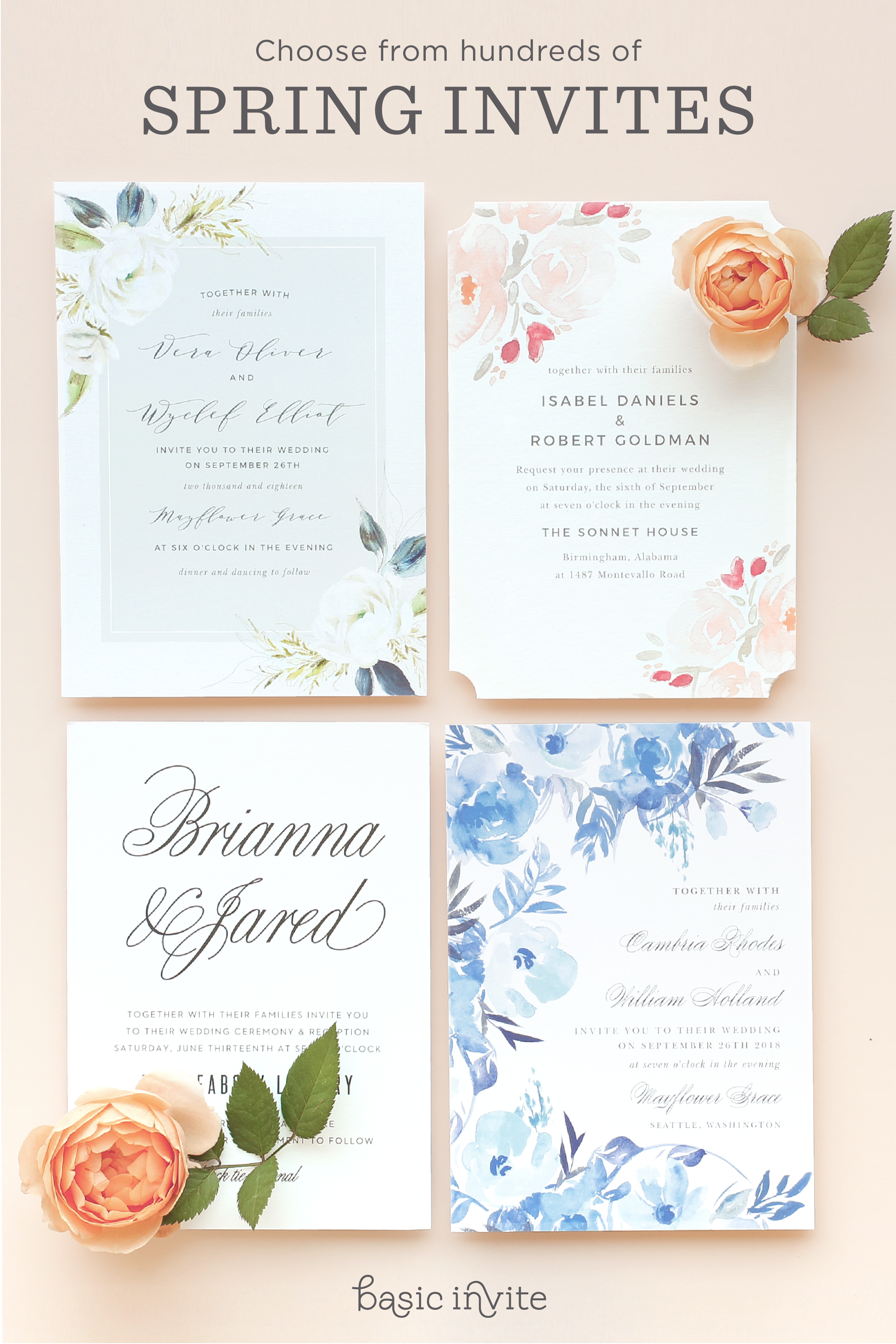 800+ wedding invitations that can be instantly designed online in ...