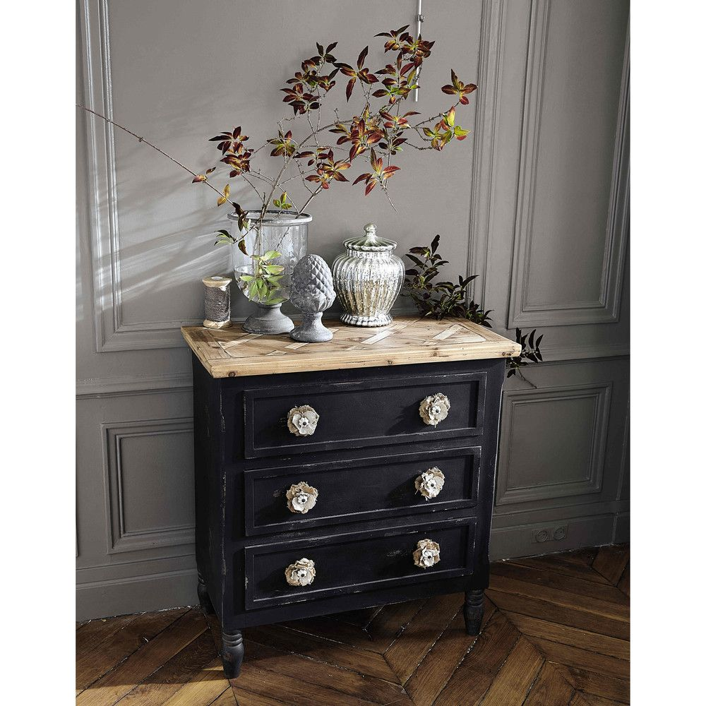 Best 3 Drawer Chest In Black Wooden Chest Chest Of Drawers 400 x 300