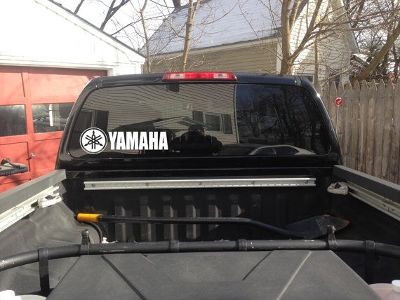 Yamaha vinyl decal car window wall art by greenmountainvinyl 6 00