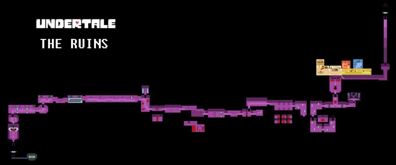 картинки андертейл карта подземелья будете
