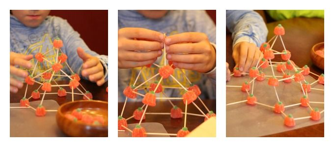 Building Structures with Candy Pumpkins | Holidays in the ...