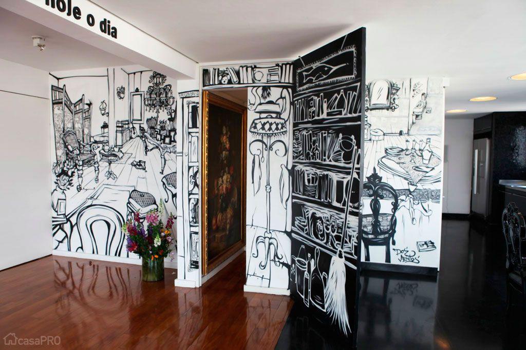Apartamento paulista é repaginado com técnicas de desenho animado - Casa