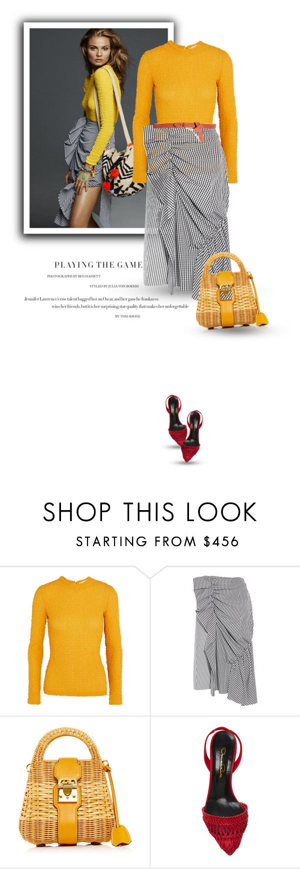"""""""26.11.2016"""" by bliznec-anna ❤ liked on Polyvore featuring Magdalena, Victoria Beckham, J.W. Anderson, Mark Cross, Oscar de la Renta and GUESS"""
