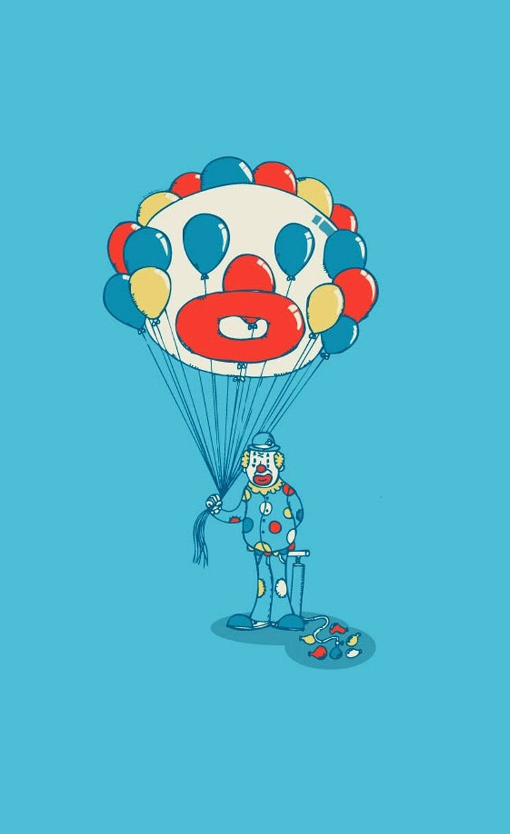 Clown - iPhone wallpapers - @mobile9