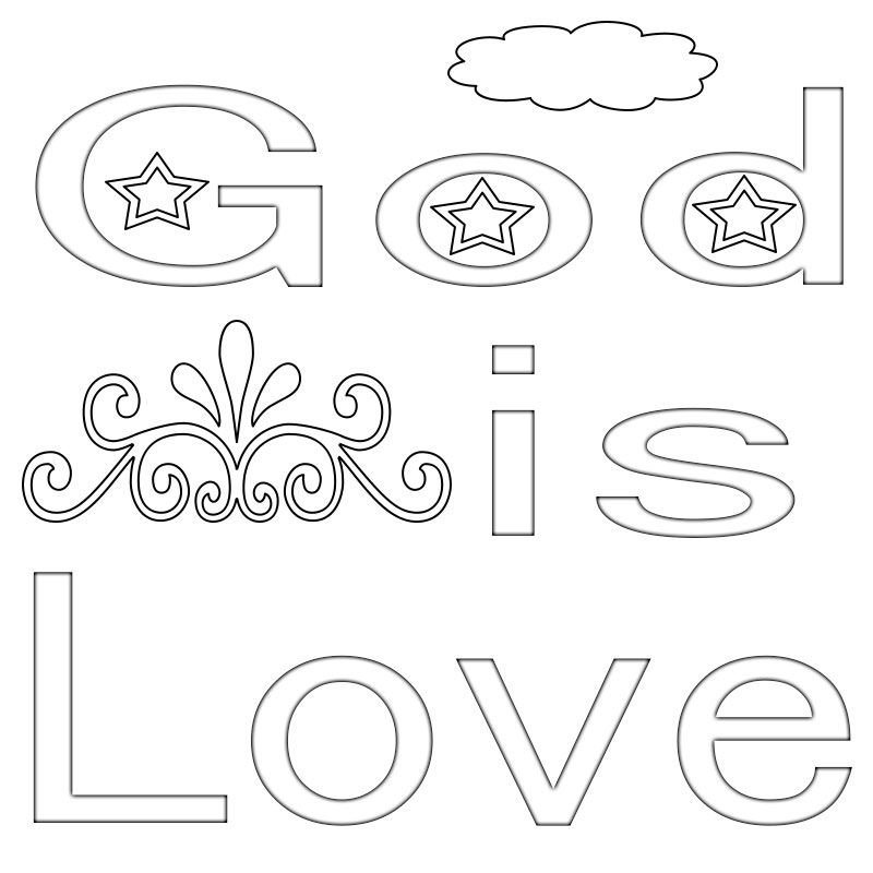 God Is Love Printable Coloring Page Love Coloring Pages Coloring Pages Bible Coloring Pages