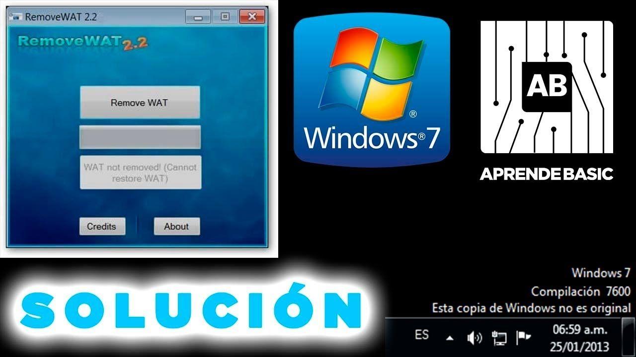 Removewat 2 2 6 Activador Para Windows 7 Mega Windows Videos Tutoriales Tutoriales
