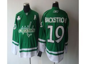 ae1e62ebd NHL Washington Capitals  19 Nicklas Backstrom Green St. Patty s Day Green  Jersey