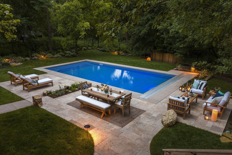 Schone Garten Pool Inspiration In 2020 Backyard Pool Landscaping Pools Backyard Inground Inground Pool Landscaping