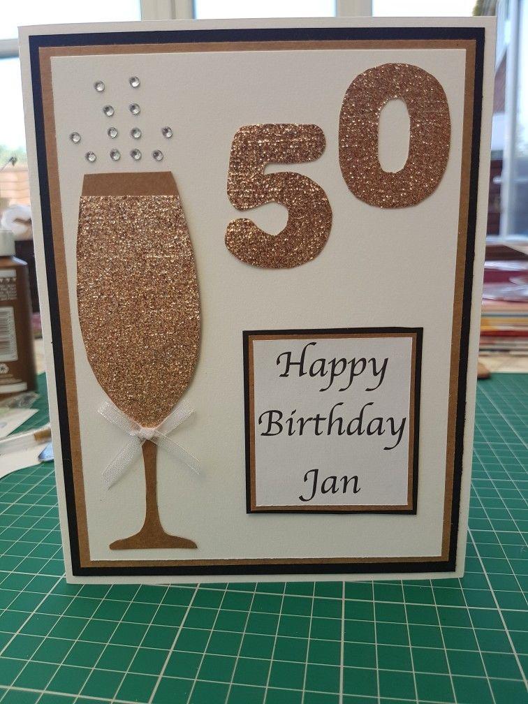 50th Birthday Celebrations Handmade Card Papercraft 50 Birthday 50th Birthday Cards For Women Diy 50th Birthday Card 60th Birthday Cards