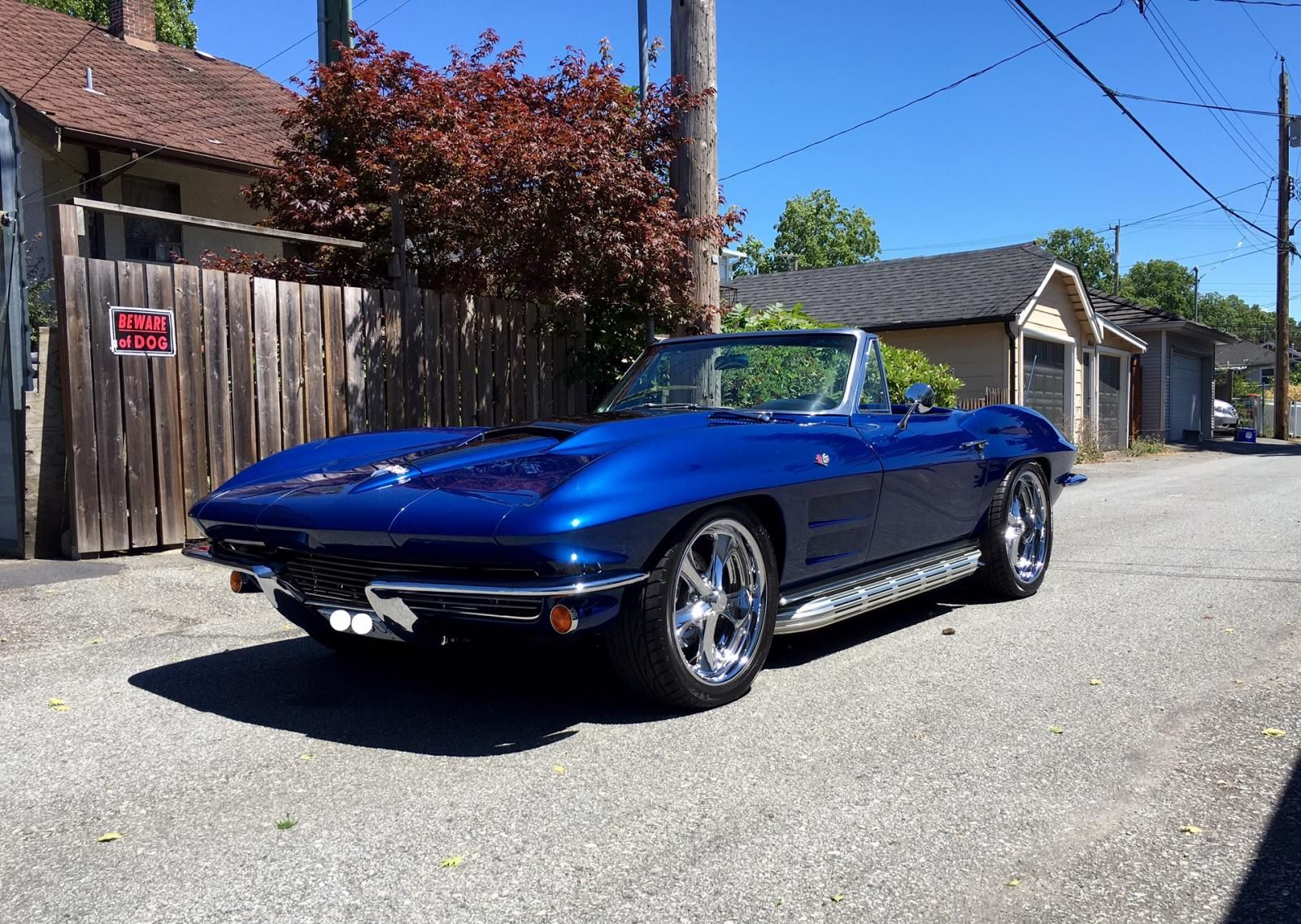 1964 corvette stingray convertible restomod frame off restoration for sale