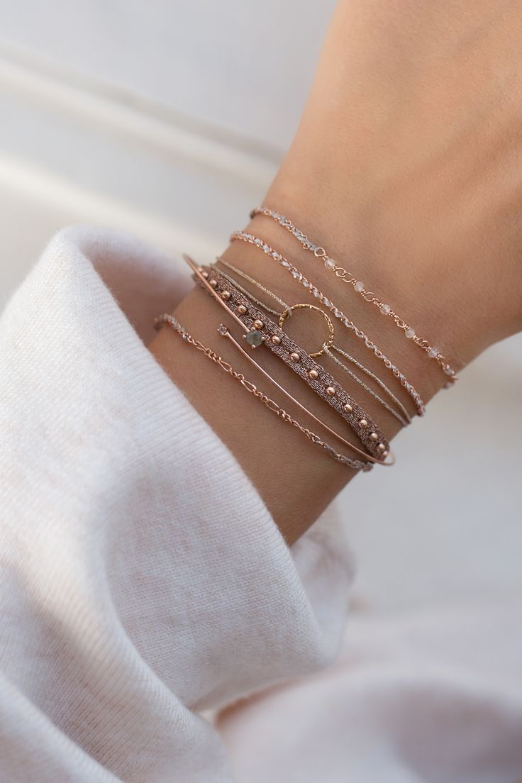 Photo of CIRCLE Armband rosé vergoldet