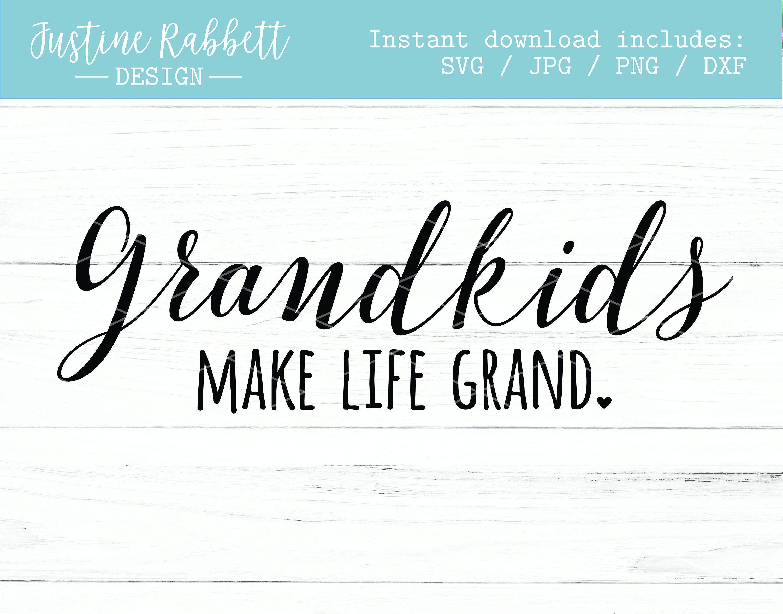 Download Grandkids make life grand, small heart, script font ...