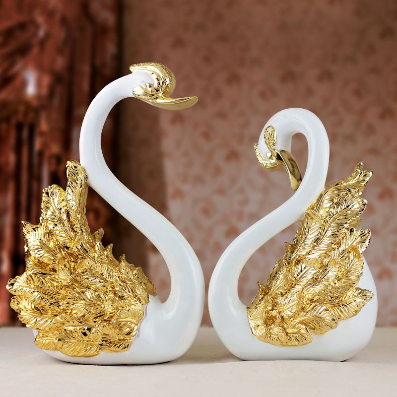 Gift Lovers Swan Decoration Thoughtful Wedding Gifts Anniversary For Parents