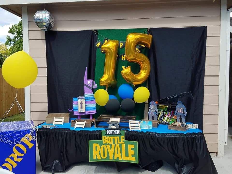 Fortnite party Teenage birthday party, Boys birthday