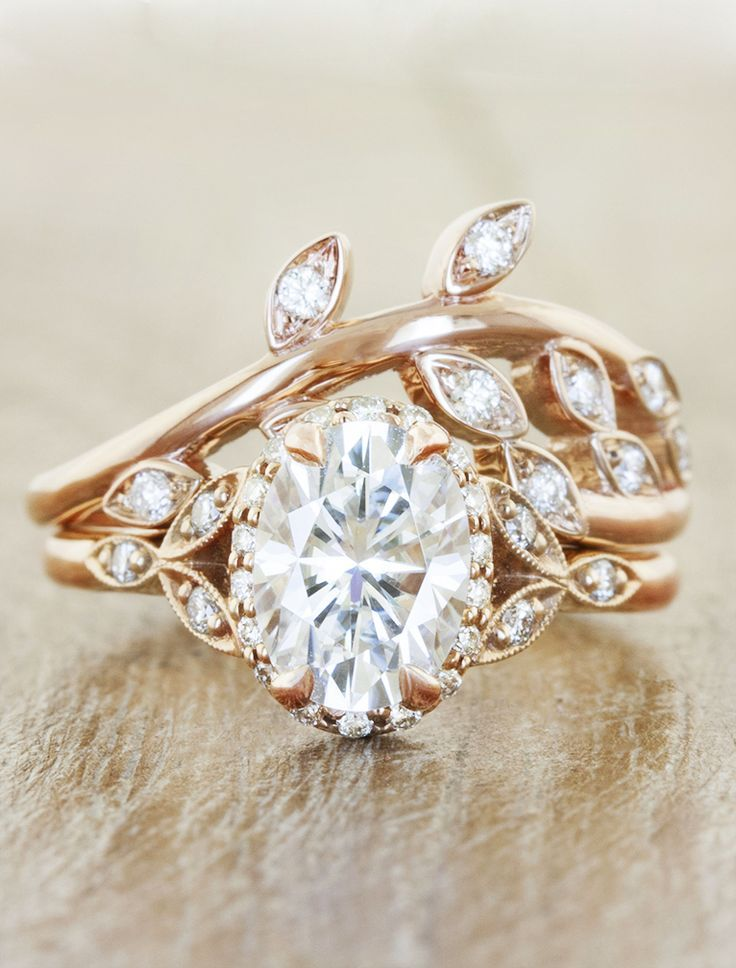 Unique engagement rings by Ken Dana Design in Rose Gold