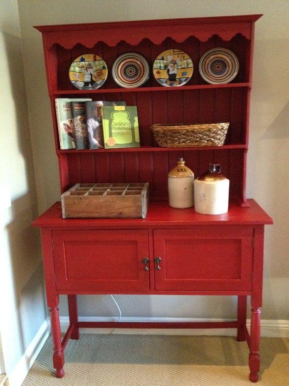 Red Hutch Sold By Emptynestrestoration On Etsy 895 00 Obviously