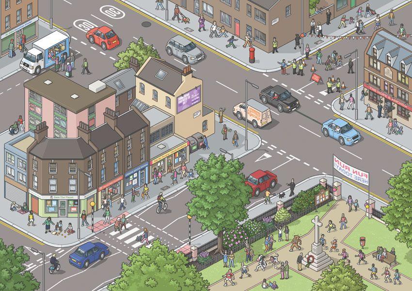 Busy Street Scene Drawing Google Search Party Scene Street