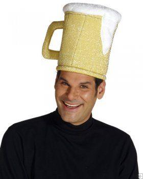 37b4ad9c2ff Gold Beer Mug Hat Unisex Costume