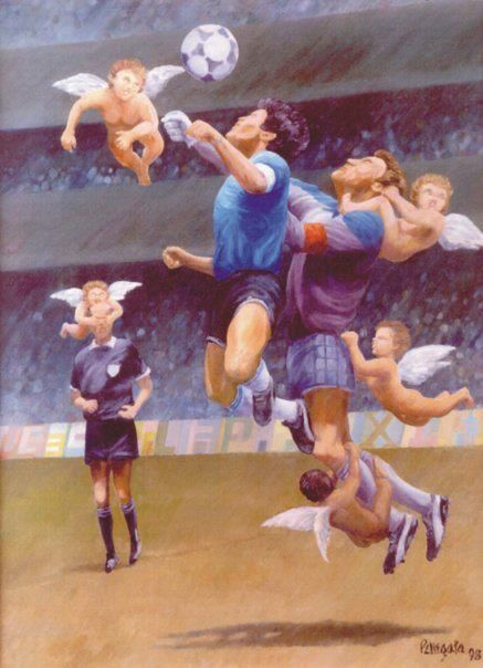 The Hand Of God Football Illustration Football Images Soccer Poster