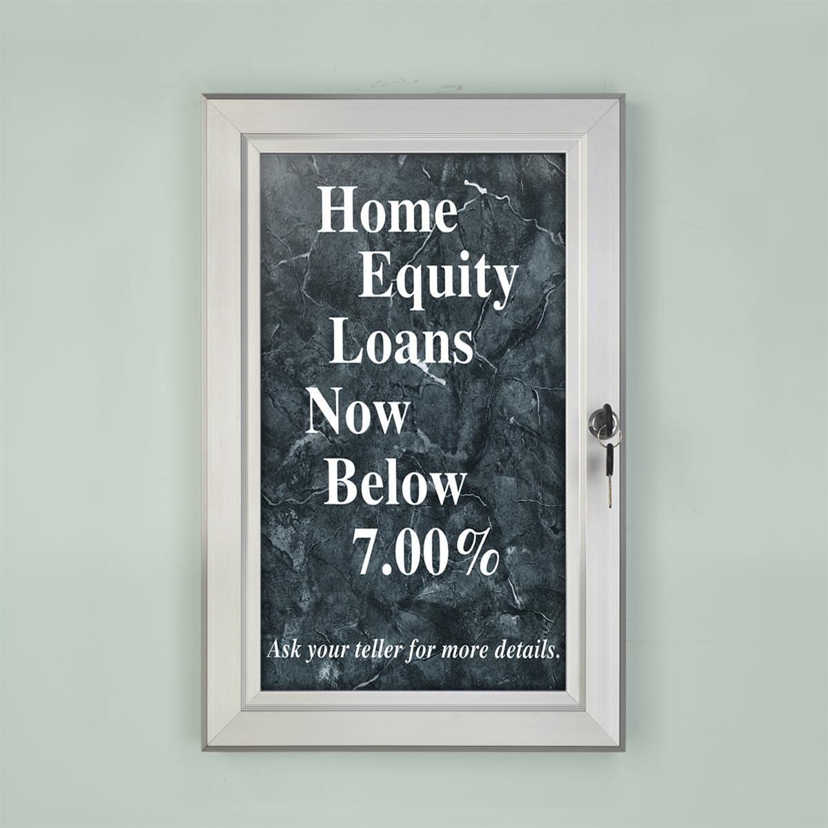 11 X 17 Outdoor Poster Frame For Wall Swing Door With Gasket Silver Poster Frame Poster Case Wall Signs