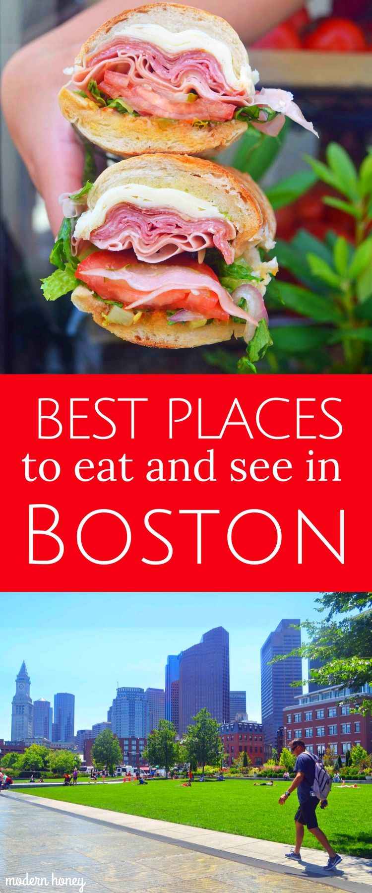 Best Places to Eat and See in Boston. A comprehensive list of the most popular things to do in Boston and the best restaurants in Boston. Tips on transportation, weather, food, and entertainment. and how to plan a perfect vacation to Boston. www.modernhoney.com