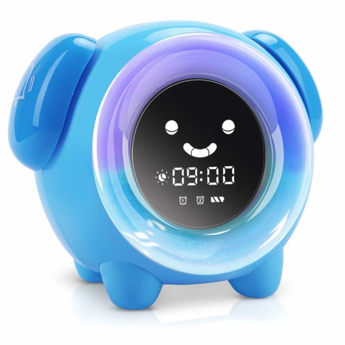 Sleep Training Toddler Clock for Girls//Boys Battery Operated Alarm Clock for Kids with Multi-Color Night Light Lumipets Light Up Kids Alarm Clock Cute Animal Music Lamp Clock with Funny Faces