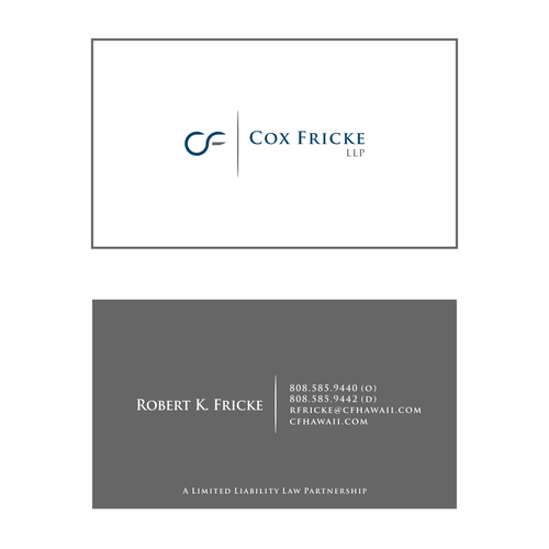 Cox fricke llp boutique litigation law firm in hawaii seeks cox fricke llp boutique litigation law firm in hawaii seeks professional logo business cards reheart Gallery