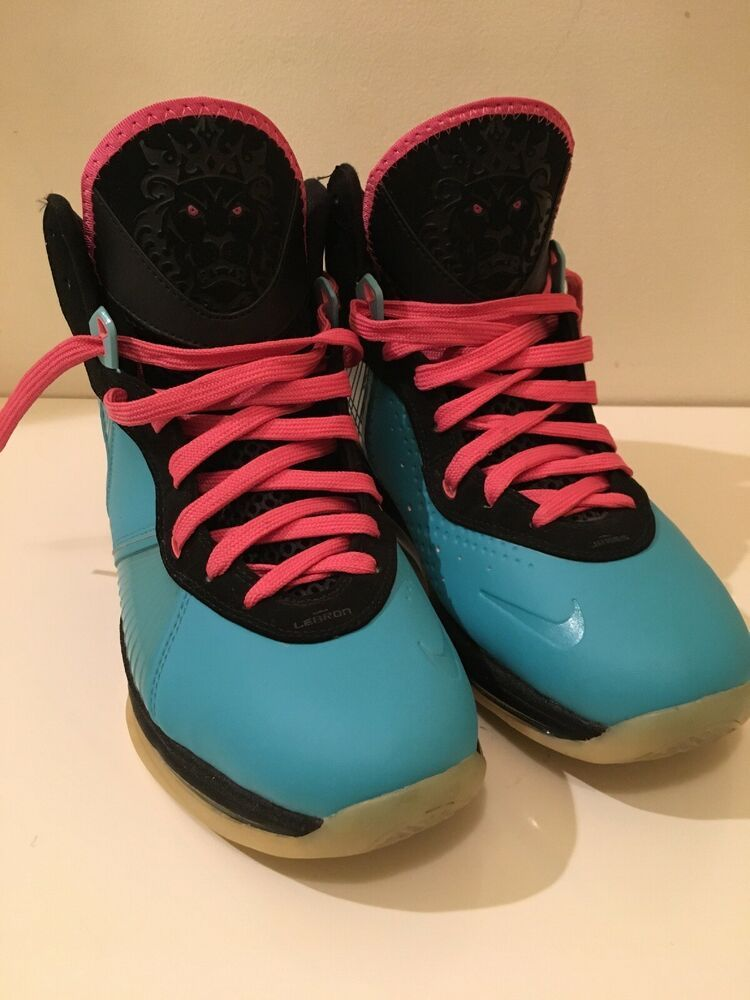 sports shoes 9dcae 9f4b1 Nike Air Lebron James 8 VIII South Beach Size 13 - 2012 EXCELLENT CONDITION    eBay