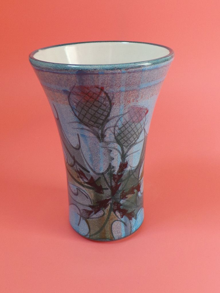 Tain pottery scotland thistle vase tain pottery pinterest tain pottery scotland thistle vase reviewsmspy