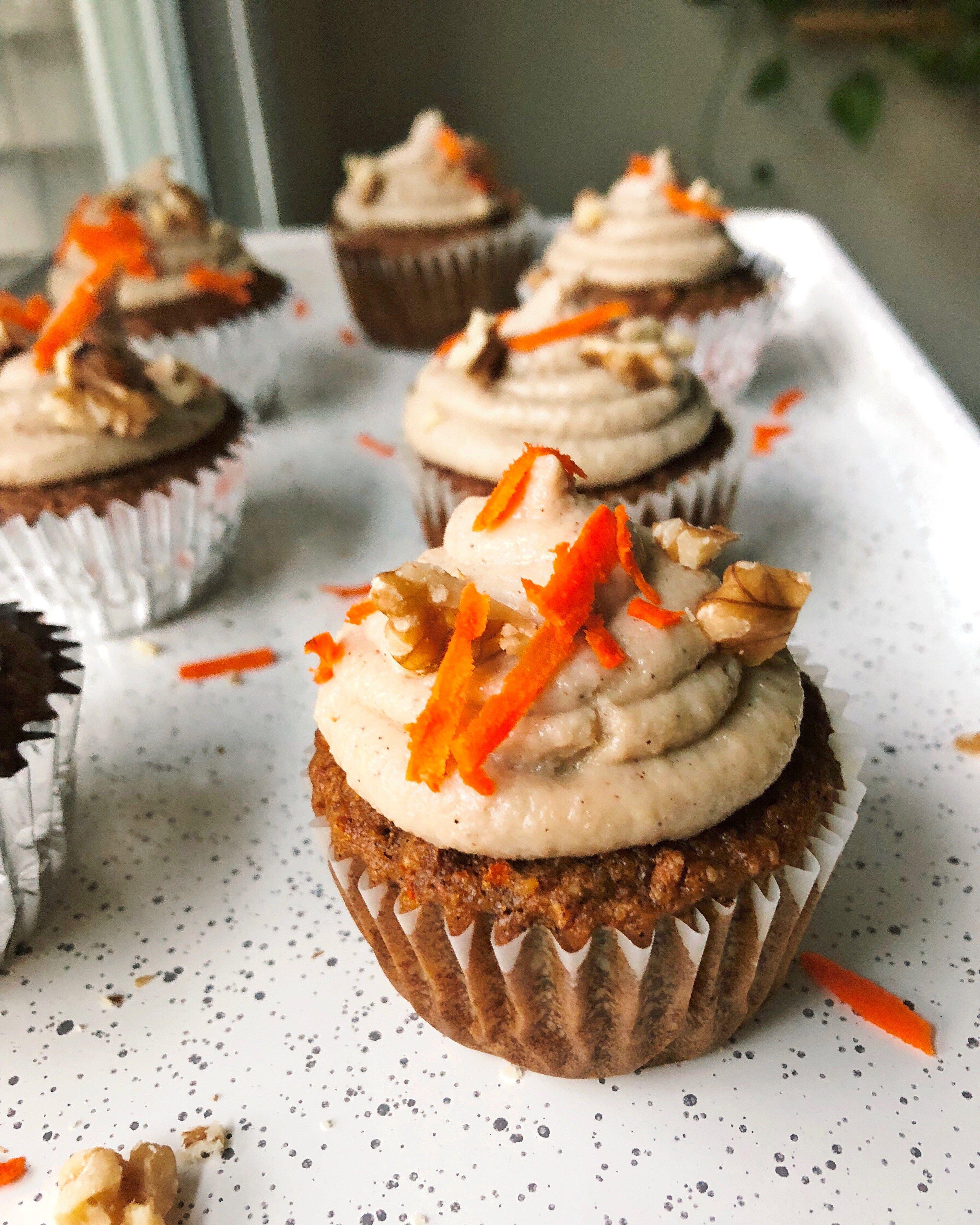 gluten free nation carrot cake cupcakes