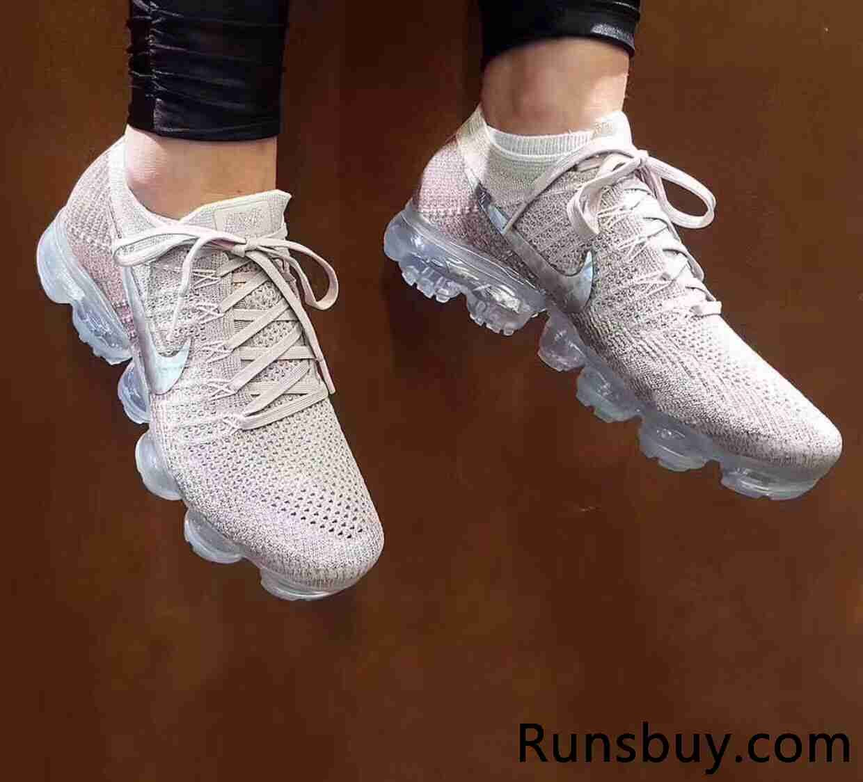 the cheapest new arrive where can i buy Hot Nike Air VaporMax 2018 Flyknit Roshe Gold Silver Tick ...