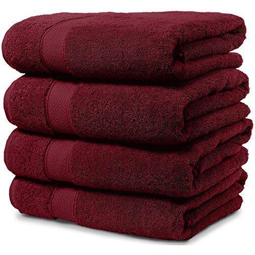 Pinzon 6 Piece Blended Egyptian Cotton Bath Towel Set Cranberry