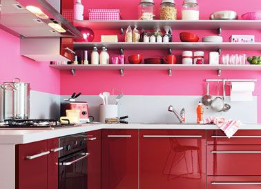 cuisine rouge modele spacio fly