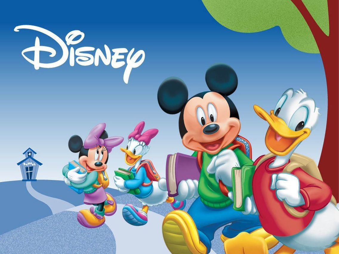 Mickey Mouse Wallpaper For Bedroom Mickey And Friends Go To School Mickey Minnie Mouse