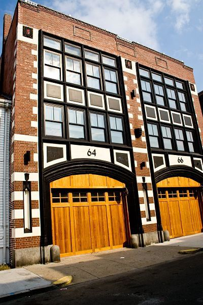 Two Lofts In A Renovated Firehouse Boston House Fire Contemporary House Warehouse Loft Living