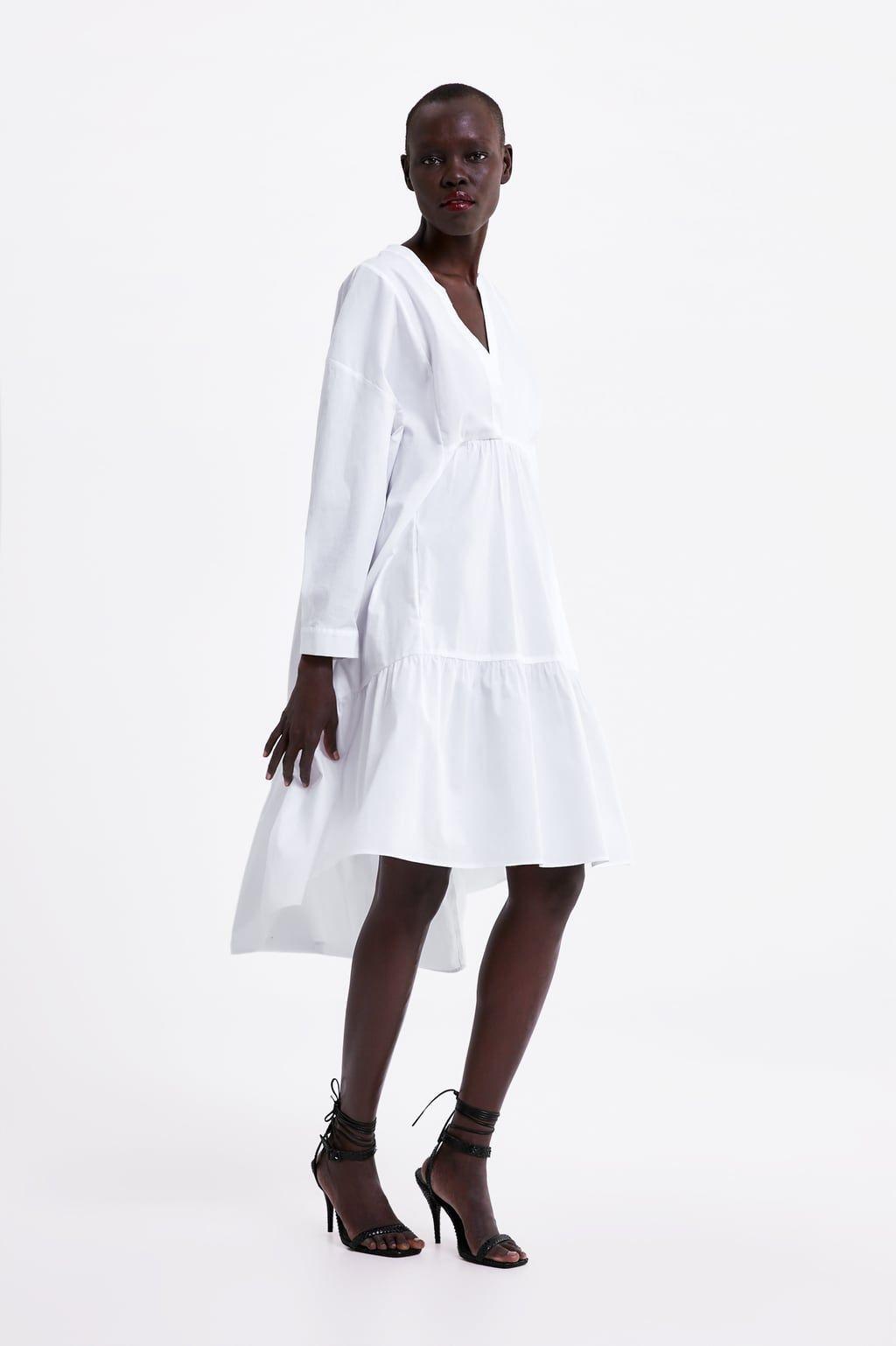 ebdd3846ea Textured print dress in 2019 | desires | Poplin dress, Dresses ...