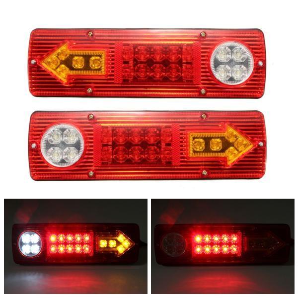 2x 12v Led Trailer Truck Rear Tail Brake Stop Turn Light Indicator Reverse Lamp In 2020 12v Led Turn Light Car Lights