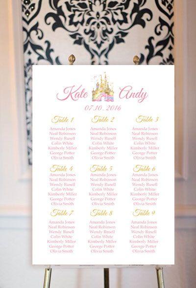 disney wedding seating chart disney wedding wedding decor name cards